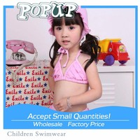 2015 Summer Hot Fashion Sexy Pink Bikini For Baby Girl Kid