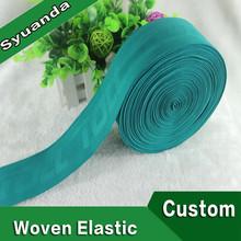 Custom Debossed Logo suave de Nylon de ancho elástico de la ropa de banda