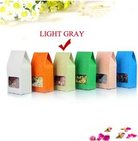 High Quality 8cm*15.5cm+5cm Bottom *140Mciron Light Gray Stand Up Bags Kraft Paper Box Food Snack Pouch