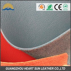 Hot New Arrival Fabric PU leather for shoes flocking backing