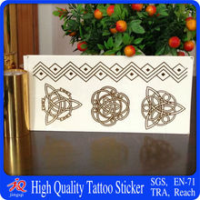 21x15cm new design flash gold temporary tattoos