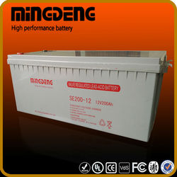 MINGDENG cost of installing solar panels 12v 150amp solar power with battery storage battery