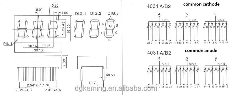 fnd small 3 digit 7 segment led display 3 digit 7 segment display manufacturer