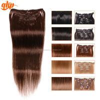 High quality peruvian natural wave human hair peruvian clip in hair extensions