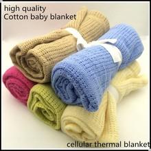 100x75cm Baby Blanket Newborn Summer Breathable Cotton Sleeping Blanket Kids Car/Crib Simple Casual Hole Wrap Swaddling Blankets