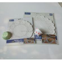 Popular rodada decorativo descartável de papel doilies do laço