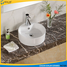 High quality table top ceramic art wash sink cabinet basin