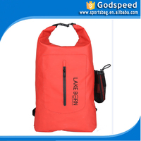 PVC tarpaulin swimming backpack, custom logo waterproof ocean pack