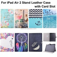 Hot sale! Smart Case For iPad Air 2 Cover Stand Tablet Designer Flower Pattern