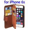 Cheap Wholesale Price Six Card Slots Genuine Leather for iPhone 6s Phone Case