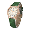 Fashion watches green leather strap diamond luxury watch brand SINOBI