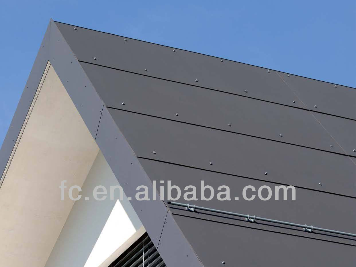Fiber Cement Panel Details : Colour fiber cement board facade material