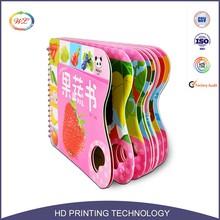 Espiral encadernação de impressão de papelão Eva crianças livro cor