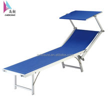 GXB-018W folding aluminum beach bed with sunshade folding bunk folding wall bed