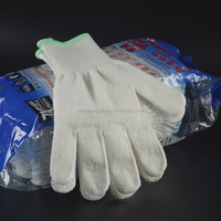 the most cheap White working safety cotton gloves