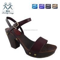 latest style sandals open toe platform high heel shoes slip back pump