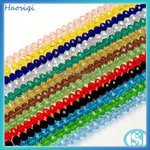 wholesale multi color rondelle glass crystal beads strands