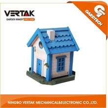 Front rank of garden tools supplier hot selling wood craft bird house made in China