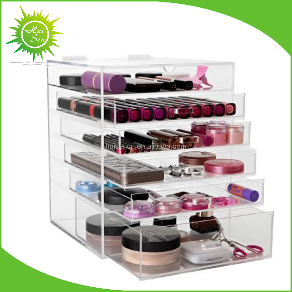 Clear acrylic cosmetic organizer with customize