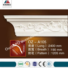 different kinds ceiling building material PU carving cornice