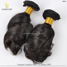 strict control quality leshine hair Malaysian /Bralizan/Indian hair wholesale soft feel bouncy curl hair extension