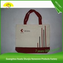Wholesale Personalized Canvas Fabric Shopping Bag Canvas Shopping Bag (SJ-D-245)