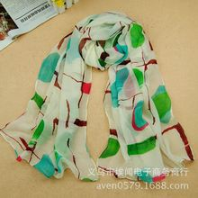 f424 wllaw 2015 New Scarves wholesale selling cross trade colored circles female scarf shawl RX062