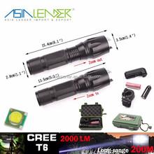 T6 /10W-2000 Lumens, 135g, BT-4764 LED Flashlight Tactical