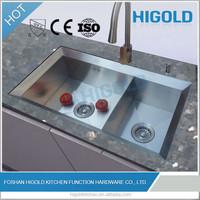 304 stainless steel 18 gauge /16 gauge kitchen sink (double bowl )