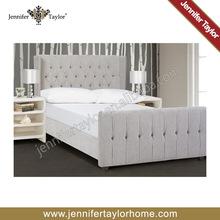 Jennifer Taylor diseño moderno plataforma de madera de la cama king size cama de madera maciza
