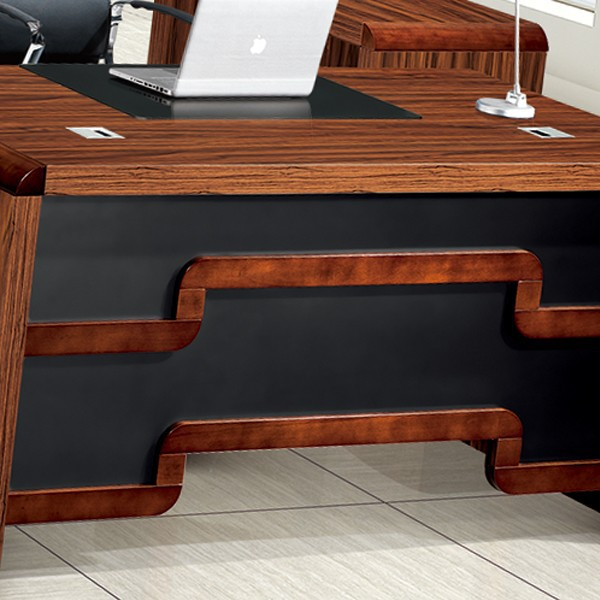 latest office table design, solid wood curved office desk