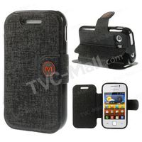 For Samsung Galaxy Y S5360 MLT Oracle Grain Magnetic Leather Stand Case