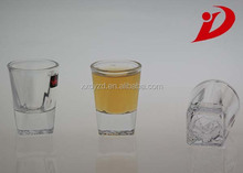 Personalised shot glass gift Customized clear glass cups wholesale price decorative shot glasses
