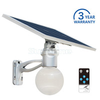 Outdoor Solar LED Wall Light with Remote Control