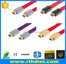double ended hdmi cable with gold plated high speed support 2.0v 1.4v