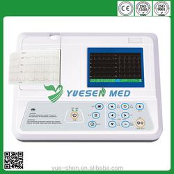 YSECG-03C Color Screen 3 Channel Digital ECG Machine