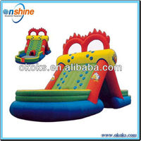 Cheap children water amusemnet theme park inflatable water slides