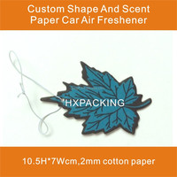 Various High Quality Paper Car Air Freshener With Tree Shape