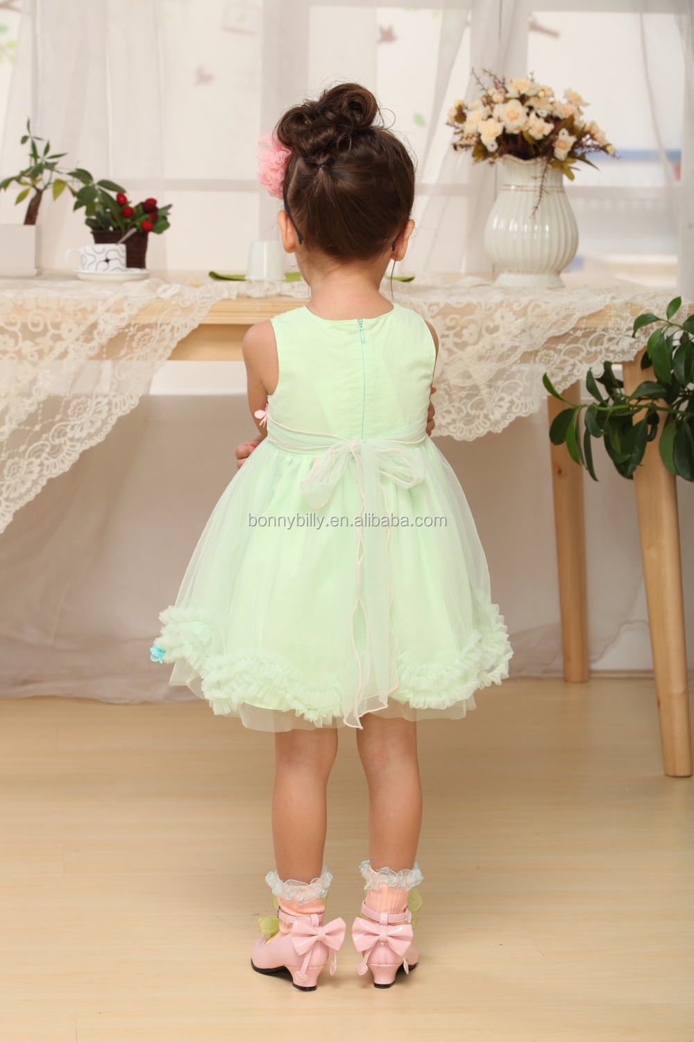 Hot Sale Flower Puffy Baby Girl Wedding Clothes,Adult Baby Clothes ...