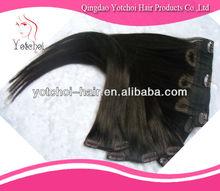 Wholesale Factory cheap price Grade AAAA 100% human hair cheap virign russian clip in hair extensions for black women