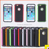 Pc Silicon Hybrid Full Protective Dual Layer Case For Iphone 6 silicon Kickstand Mobile Phone Cases