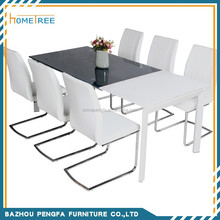 Hot sale rectangle glass dining table/dining room furniture