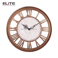 china 2015 new antique style ancient living room polyresin wall clock