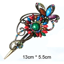 Wholesale Gothic style hot sale new glitter fashion flower hair claw for women