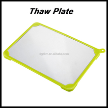 2015 the best seller family mini food defrost plate with aviation aluminium material, quick thawing meat,fish,chicken