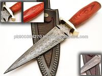 Custom made Damascus Steel hunting knife PDS-1044
