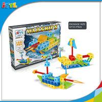 138PCS Popular And Hot Educational Warship Block 3D Block Toy