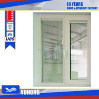 Swing opening pvc casement windows with built in blinds