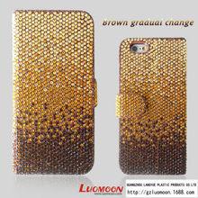 2015 New Fashion Acrylic Diamond Leather Case for Iphone