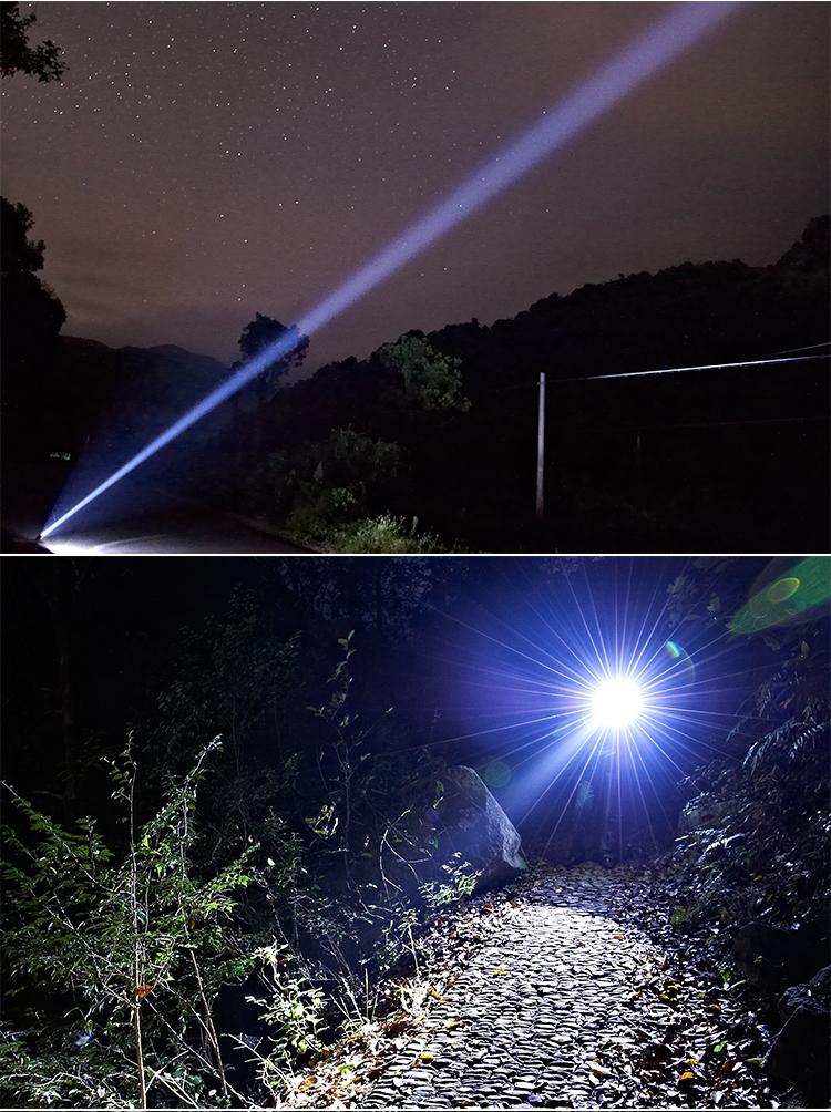 800 lumens la plus puissante lampe de poche led torche t6 tactique s curit conception avec auto - Lampe torche la plus puissante ...